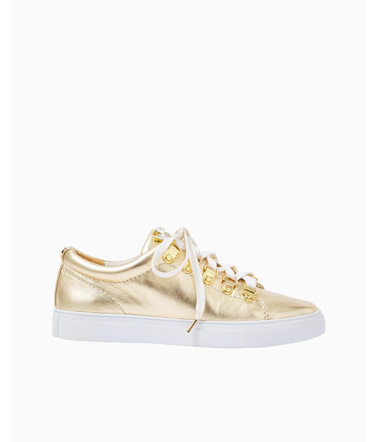 Lilly Pulitzer Hallie Sneaker In Gold Metallic