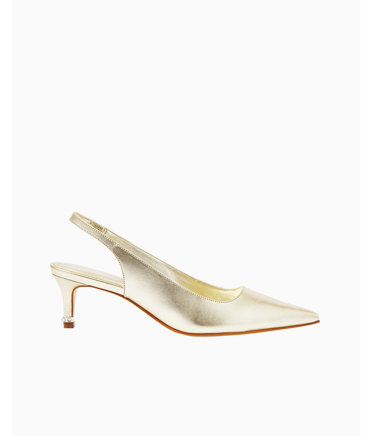Lilly Pulitzer Erin Slingback Pump In Gold Metallic